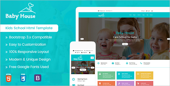 Play School HTML5 Template
