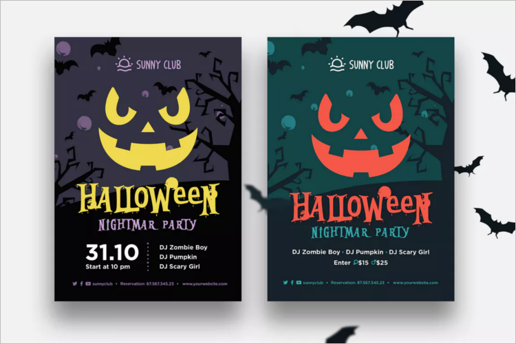 Police Halloween Poster Template