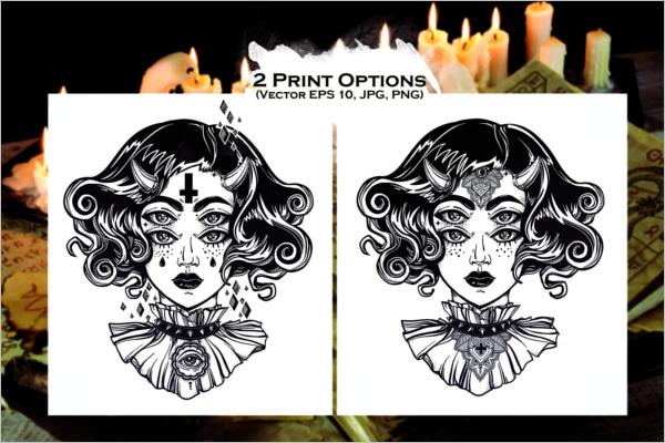 Portrait Tattoo Ideas Set