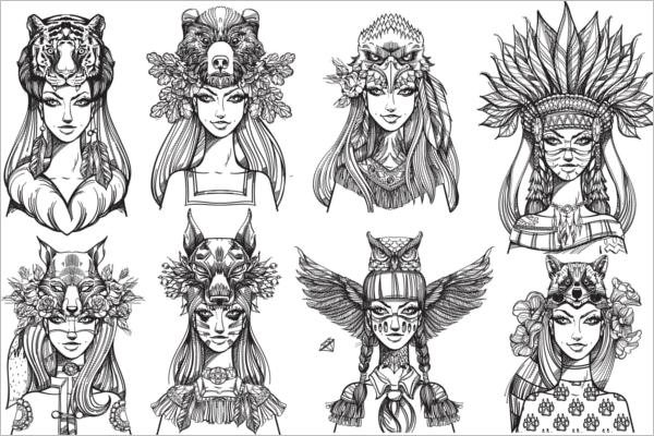 Portrait Tattoo Sketch Ideas