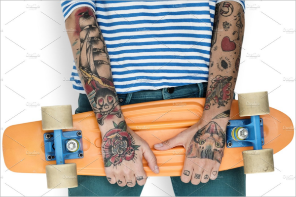 Portrait Tattoos on Arms