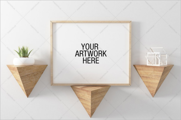 Poster Mockup Triangle Shelve