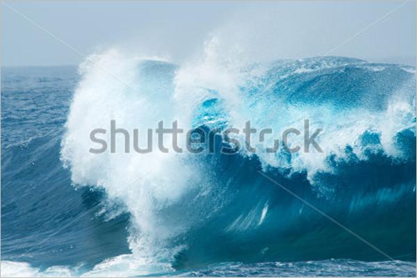 Powerful Ocean Waves Design