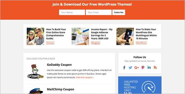 Premium press Coupon WordPress Theme