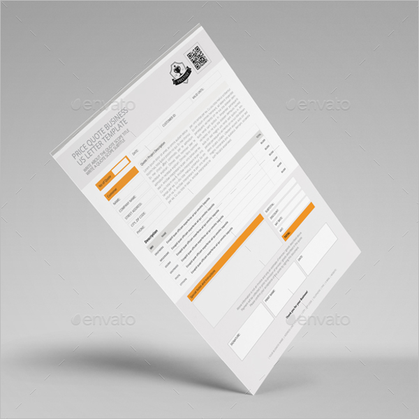 Price Quotation Sample Template