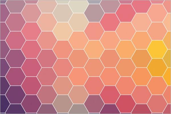 Printable Background Hexagonal Design