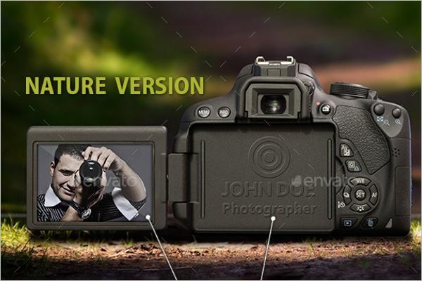 Printable Camera Mockup Template