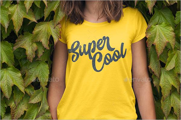 Printable Female T-shirt MockUp