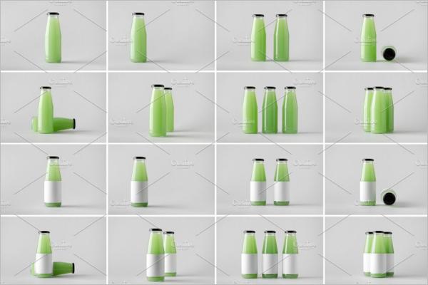 PrintableJuice Bottle Mockup Design
