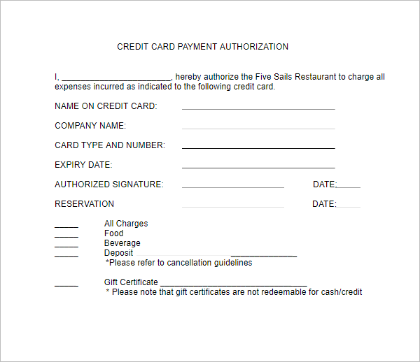 Printable Letter of Authorization