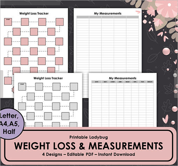 Printable Weight Loss Template