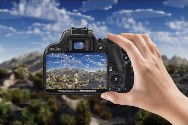 Professional Camera Mockup Template