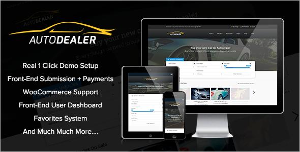 Professional Car Dealer WordPress Theme