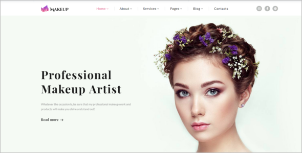 Professional Makeup Artist Website Template