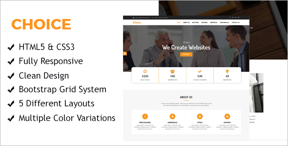 Professional One page HTML Template