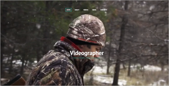 Professional Video Website Template