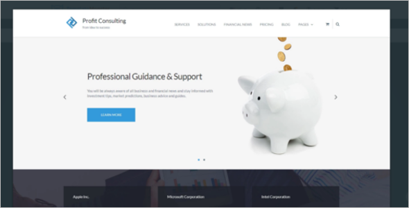 Profit Consulting Business WordPress Theme