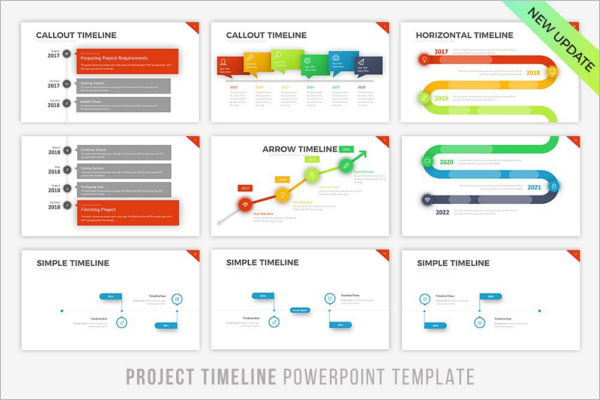 Timeline Templates Free PPT Excel Word Format Creative - Project timeline powerpoint template