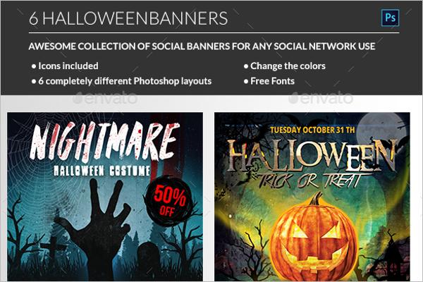 Pumpkin Halloween Banner Idea
