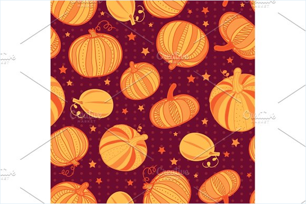 Pumpkins Pattern Fabric Design