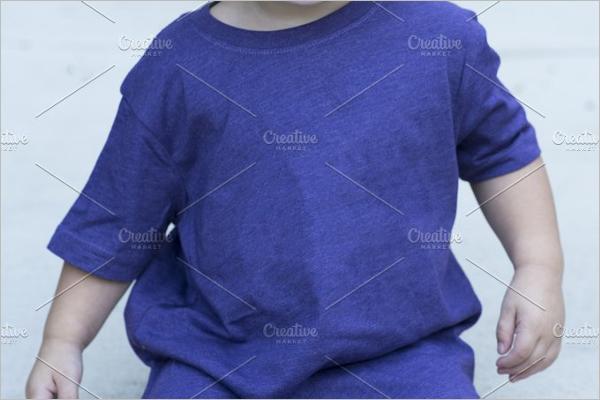 Purple Shirt Mockup Template