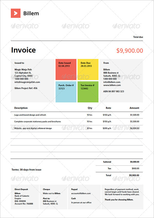 Quote Invoice Template Set