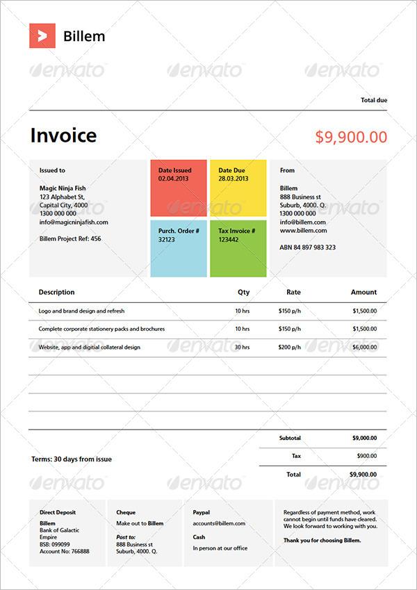 Quote Invoice Template Set