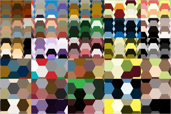 Random Hexagon Background