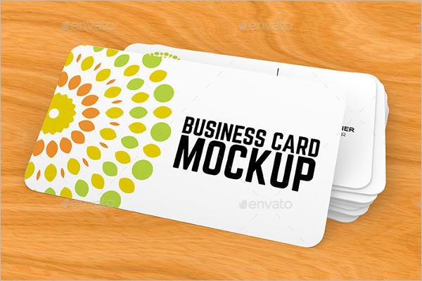 RealisticBusiness Card Mockup Design