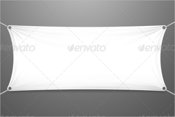 Realistic Fabric Banner Design