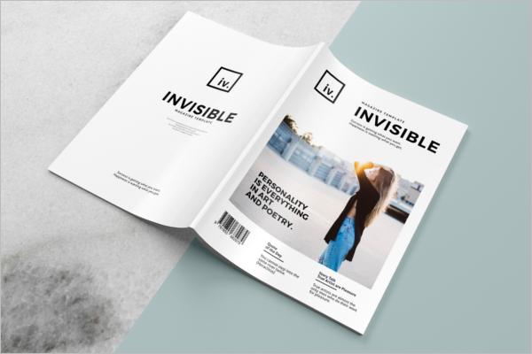 Realistic MagazineMockup Template