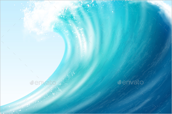 Realistic Ocean Wave Background