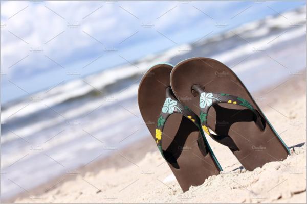 Realistic Sandals Mockup Design