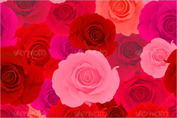 Red & Pink Rose Seamless Pattern