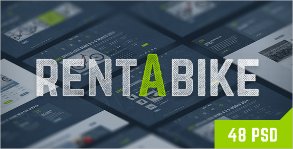 Rent Bike Shop Website Template