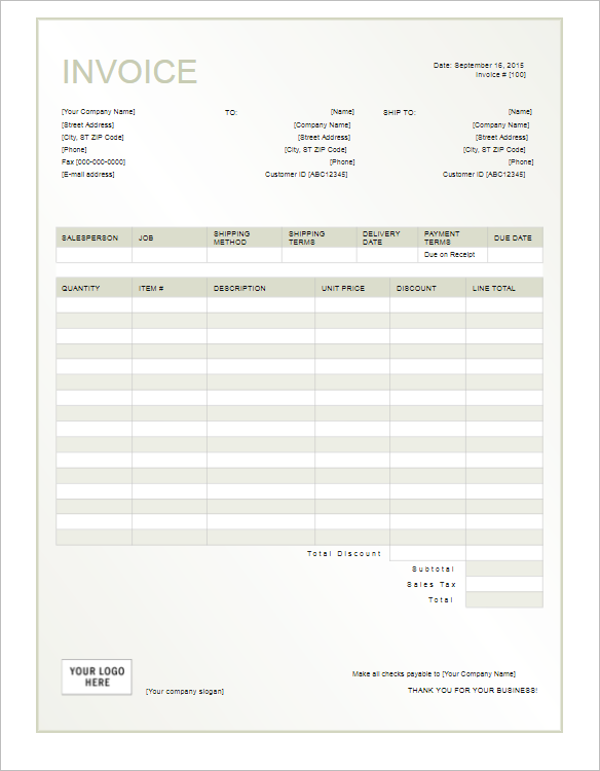 Rent Payment Receipt Template Word Militaryalicious