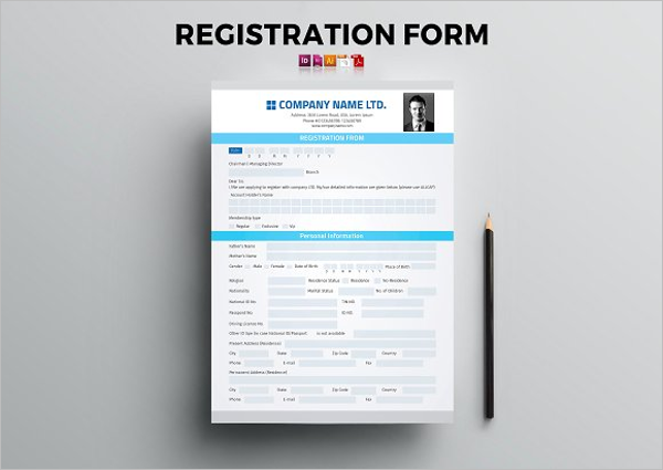 17 registration form templates free word psd documents