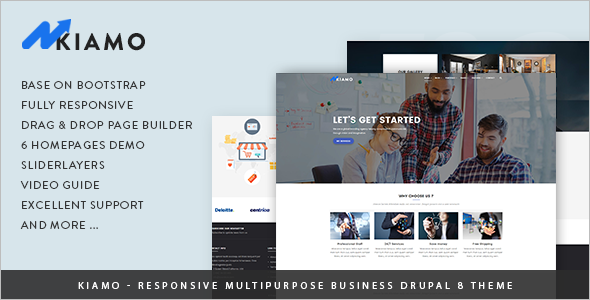 Responsive Business Service Drupal 8 Theme