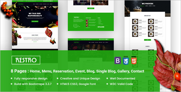 Responsive Cafe Website Theme