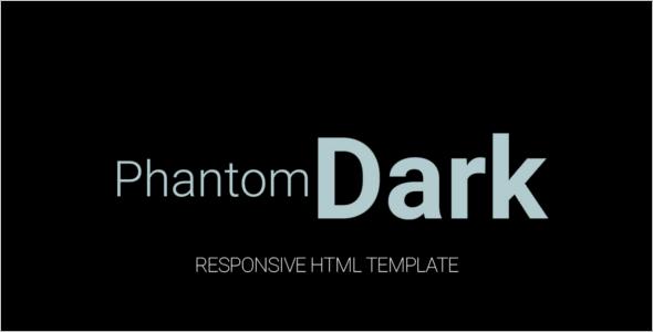 Responsive Dark HTML Template