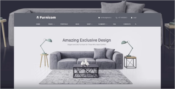 Responsive Furniture Website Templates
