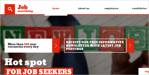Responsive Job Portal Website Template