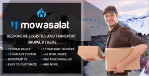 Responsive Logistics and Transport Drupal 8 Theme