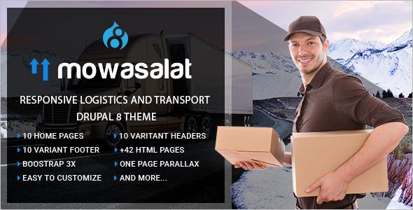 Responsive Logistics and Transport Drupal 8 Theme