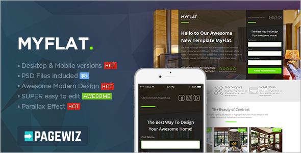 Responsive Real Estate Pagewiz Template