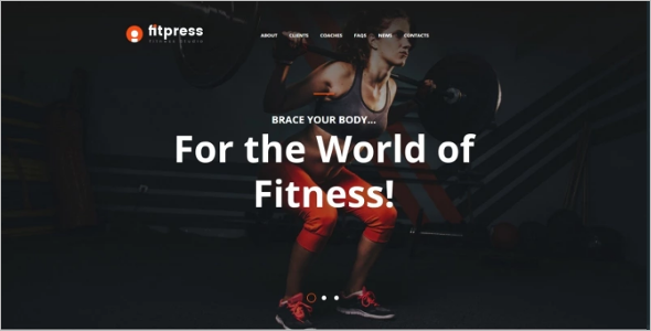 Responsive Sports Website Theme