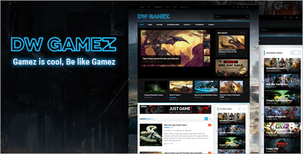 Responsive WordPress Gaming Theme