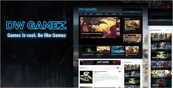 Responsive WordPress Gaming Theme