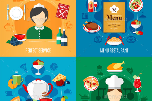 Restaurant Abstract Vector Background