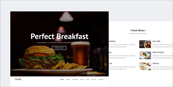 Restaurant Menu Bar HTML Template